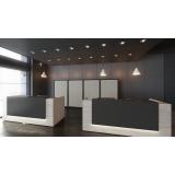 balcão de recepção para escritório moderno preços Ibirapuera