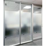 divisórias para escritório piso teto de vidro Consolação