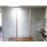 divisórias para escritório piso teto vidro duplo com persiana preço m2 Jardim Paulista