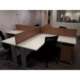 estação de trabalho com divisória para escritório Bela Vista