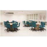 mesa de reunião circular valor Jardim Marajoara