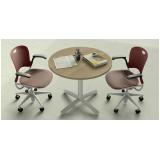mesa de reunião circular Santo Amaro