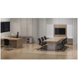 mesa de reunião com tomadas Sé