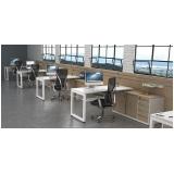 mesa para escritório branca preços Centro