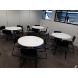 mesa redonda para escritório preços Vila Maria