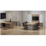 mesa reunião com painel Água Branca