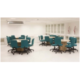 mesa de reunião circular