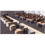 mesas em l escritório Brooklin