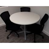 mesas reunião circular Vila Guilherme