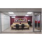 quanto custa divisórias piso teto de escritório Sacomã
